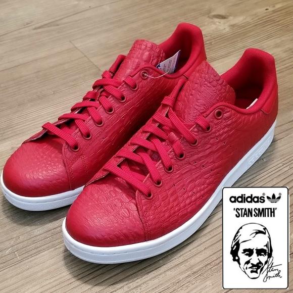 Adidas Originals Stan Smith Reptile Red AQ2729 NWT